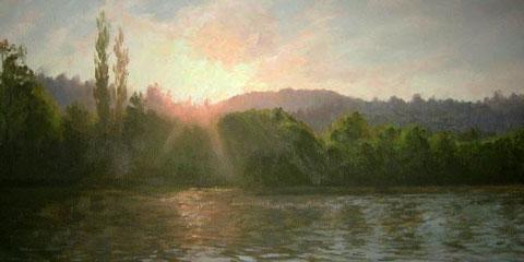 Anatoli Panagonov landscape painting