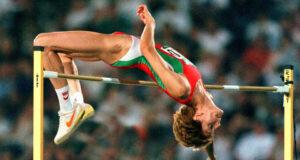 Stefka Kostadinova women's high jump world champion