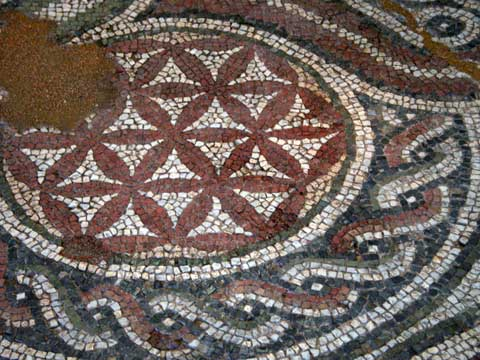 Mosaic with Celtic motif