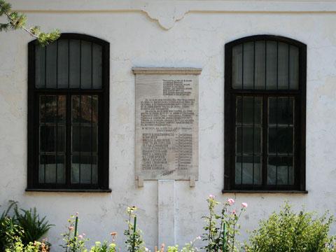 Memorial plaque for uprising led by grandpa Nikola in 1856
