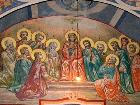 Pentecost wall painting