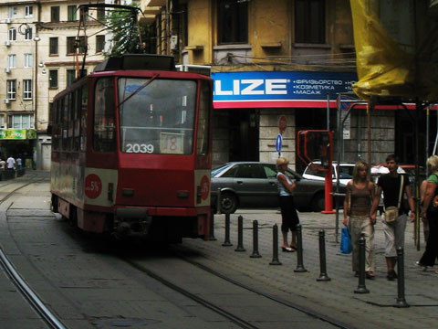 Sofia no 18 red tram red