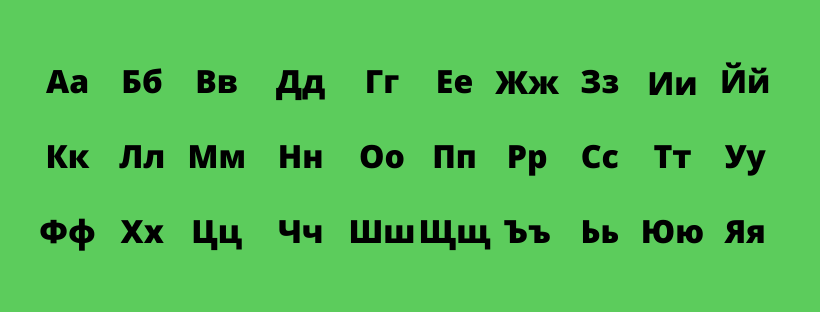 bulgarian cyrillic alphabet
